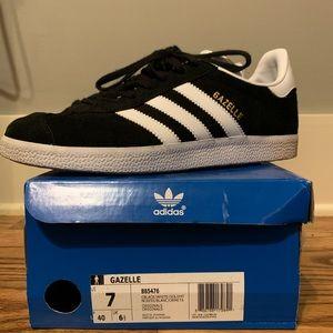 Adidas Gazelle. Black. 7  Men's